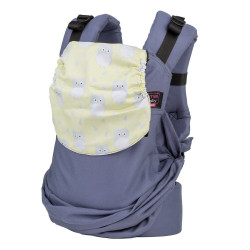 Easy Emeibaby Carrier Full Titangray Owl yellow - baby