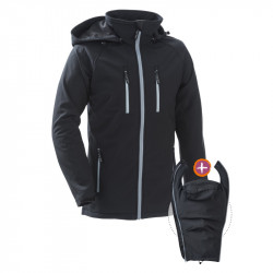 Mamalila Softshell Babywearing Jacket für Papas - Schwarz