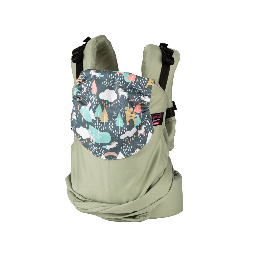 Easy Emeibaby Patinagreen Unicorn - Babytrage