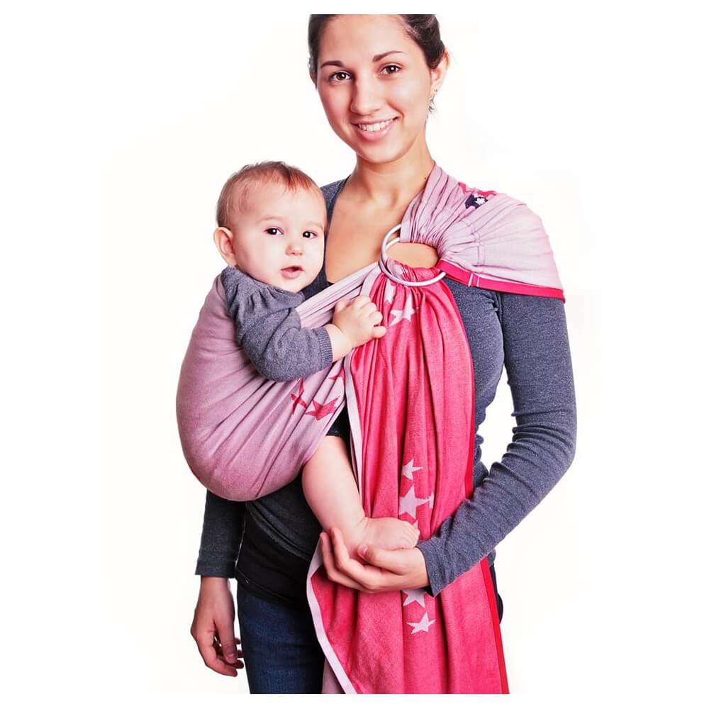 HOPPEDIZ Ring Sling Los Angeles Grau