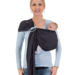 HOPPEDIZ Ring Sling London Schwarz Grau